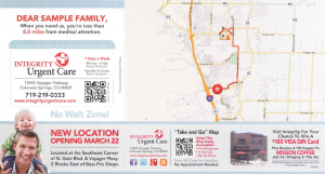 patients to you mailer marketing healthcare communications qr code map
