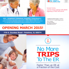 marketing mailer for urgent care grand opening communications