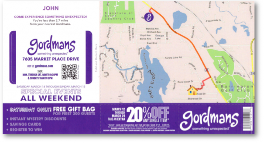 retail business marketing gordmans coupon clothing communications